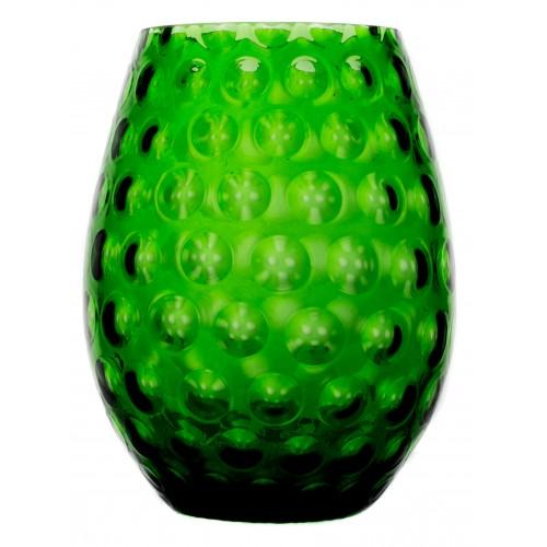 Váza Optika, barva zelená, výška 250 mm