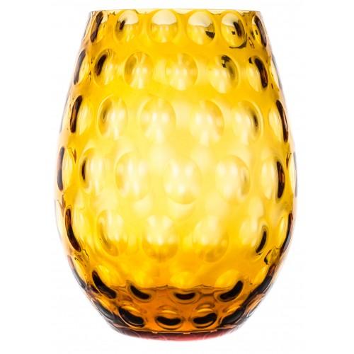 Váza Optika, barva amber, výška 250 mm