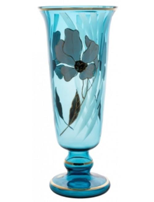 Váza Květ, barva azurová, výška 400 mm