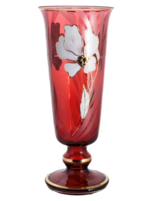 Váza Květ, barva rubín, výška 400 mm
