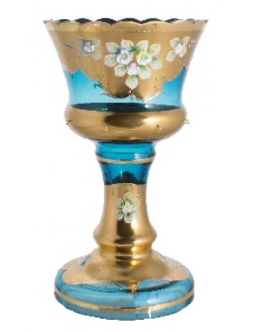 Váza, vysoký smalt II, barva azurová, výška 260 mm