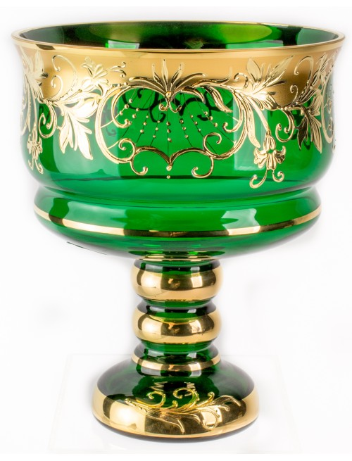 Nástolec Bell, vysoký smalt, barva zelená, průměr 170 mm
