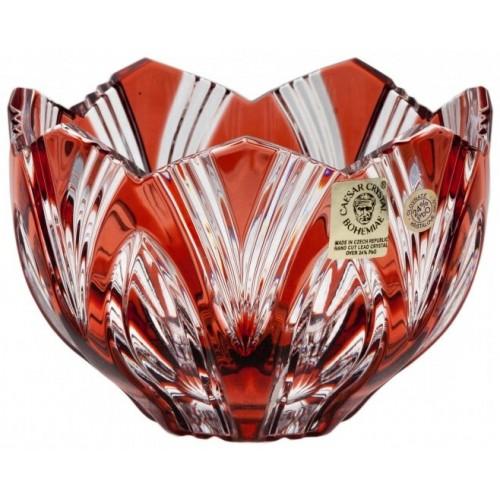 Miska Lotos, barva rubín, průměr 110 mm