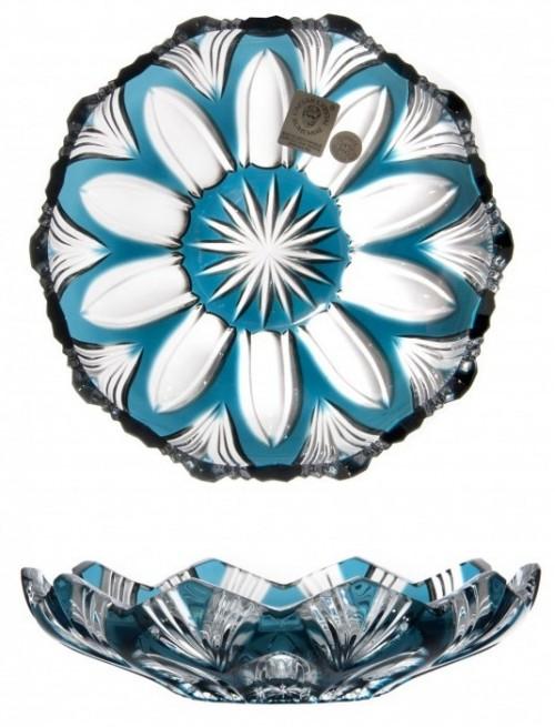 Talíř Lotos, barva azurová, průměr 145 mm