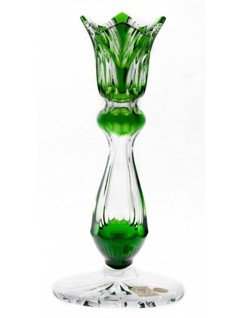 Svícen Lotos, barva zelená, výška 175 mm