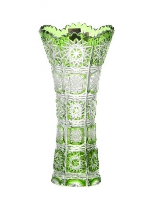 Váza Paula I, barva zelená, výška 180 mm