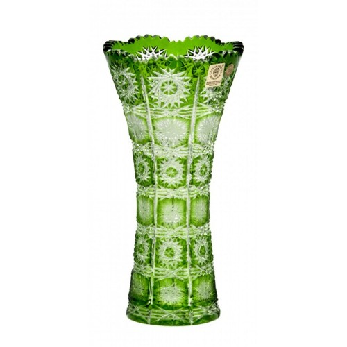 Váza  Paula, barva zelená, výška 200 mm