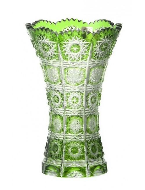 Váza Paula II, barva zelená, výška 180 mm
