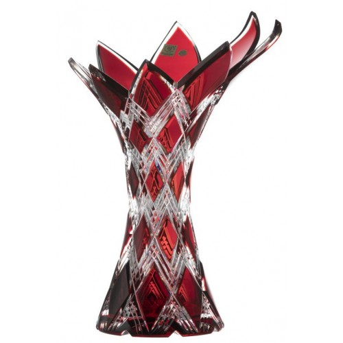 Váza Harlequin, barva rubín, výška 270 mm