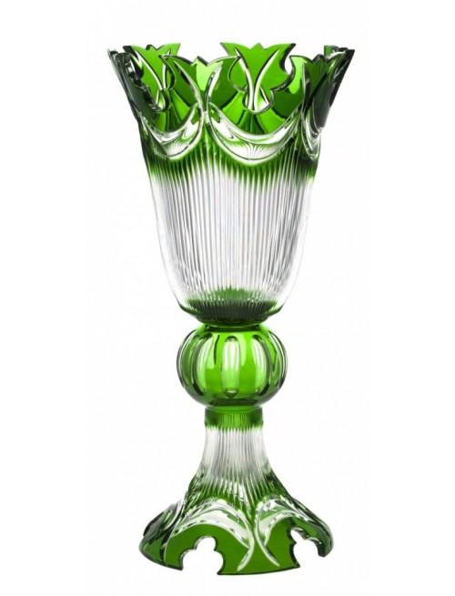Váza  Diadem, barva zelená, výška 505 mm
