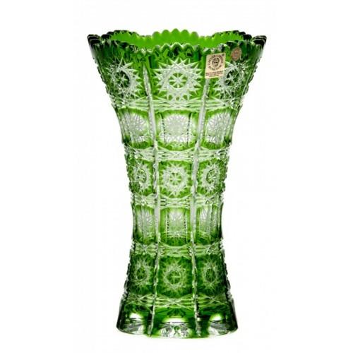 Váza Paula III, barva zelená, výška 205 mm