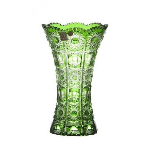 Váza  Petra, barva zelená, výška 205 mm