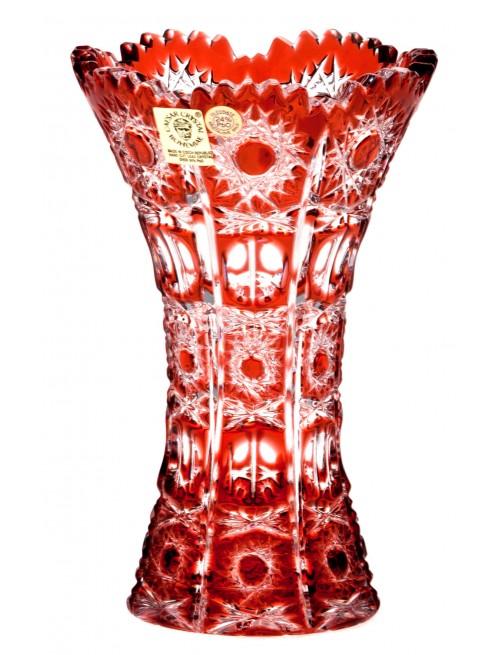 Váza  Petra, barva rubín, výška 155 mm
