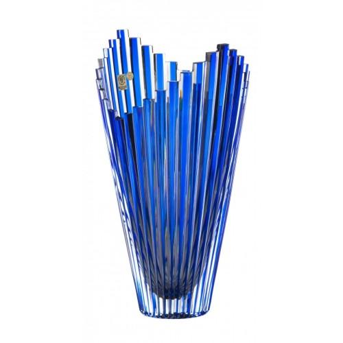 Váza  Mikado, barva modrá, výška 310 mm