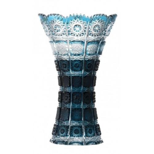 Váza  Paula, barva azurová, výška 255 mm
