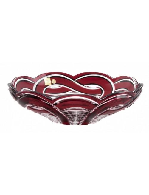 Mísa  Ribbon, barva rubín, průměr 280 mm