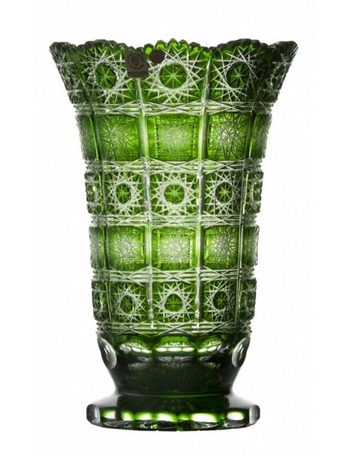 Váza  Paula, barva zelená, výška 255 mm