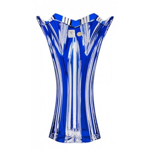 Váza Lotos II, barva modrá, výška 255 mm