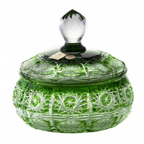 Dóza Paula, barva zelená, výška 128 mm