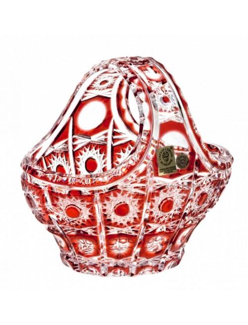 Koš  Petra, barva rubín, průměr 150 mm