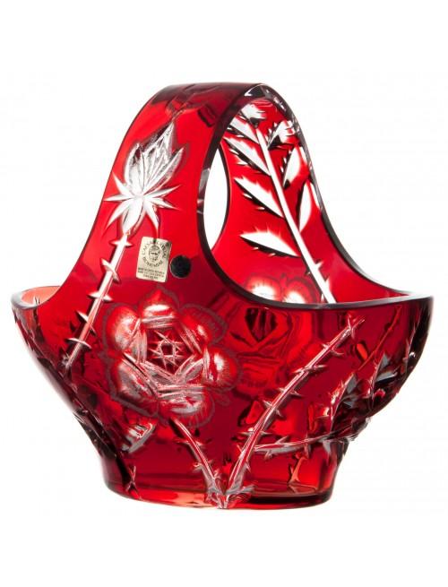 Koš Rose, barva rubín, průměr 200 mm