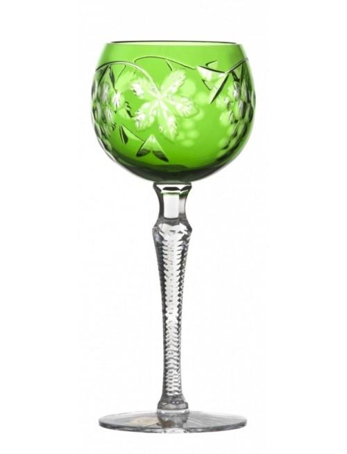 Sklenice na víno Grapes, barva zelená, objem 190 ml