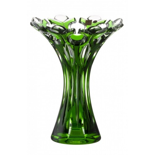 Váza  Flamenco, barva zelená, výška 250 mm