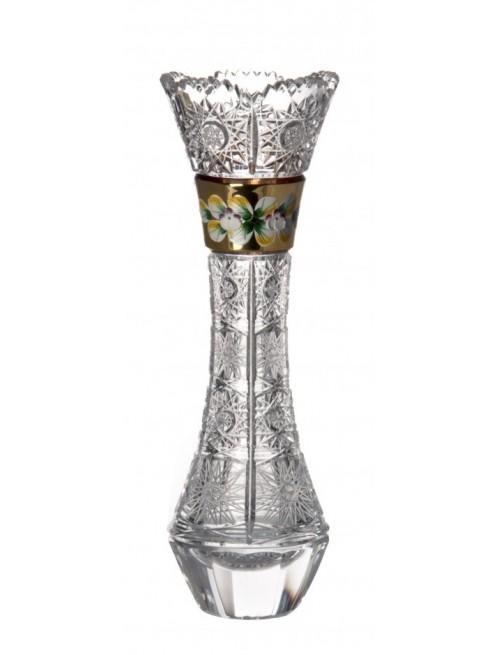 Váza 500K Zlato, barva čirý křišťál, výška 280 mm