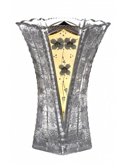 Váza 500K Zlato, barva čirý křišťál, výška 275 mm
