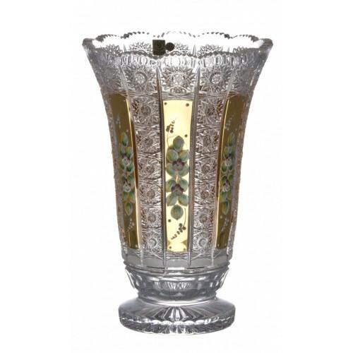 Váza 500K Zlato I, barva čirý křišťál, výška 305 mm