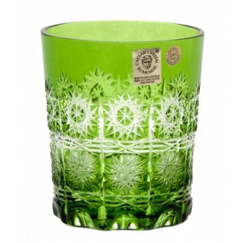 Sklenička Paula, barva zelená, objem 290 ml