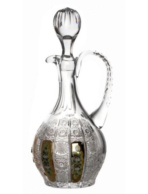 Karafa 500PK zlato, barva čirý křišťál, objem 1250 ml
