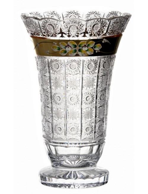 Váza 500K Zlato, barva čirý křišťál, výška 355 mm