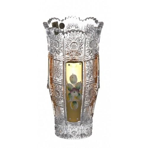 Váza 500K Zlato III, barva čirý křišťál, výška 180 mm