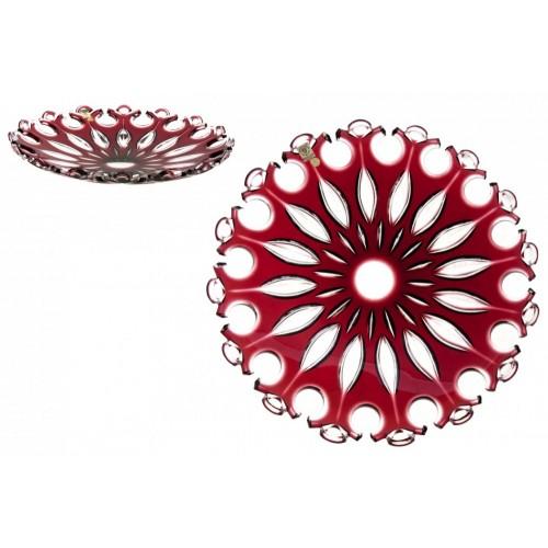 Talíř  Flamenco, barva rubín, průměr 350 mm