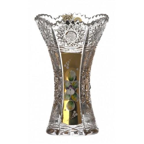 Váza 500K Zlato I, barva čirý křišťál, výška 155 mm