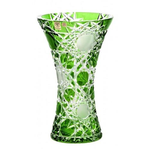 Váza  Flake, barva zelená, výška 255 mm