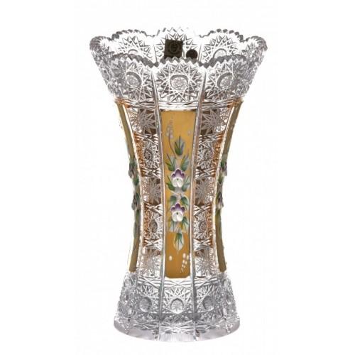 Váza 500K Zlato, barva čirý křišťál, výška 230 mm