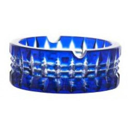 Popelník Brilant, barva modrá, průměr 90 mm