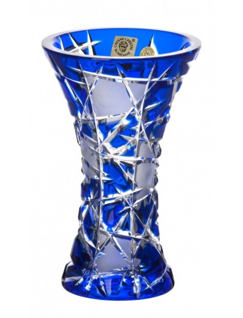 Váza  Mars, barva modrá, výška 155 mm