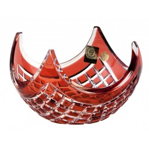 Miska Quadrus, barva rubín, průměr 140 mm