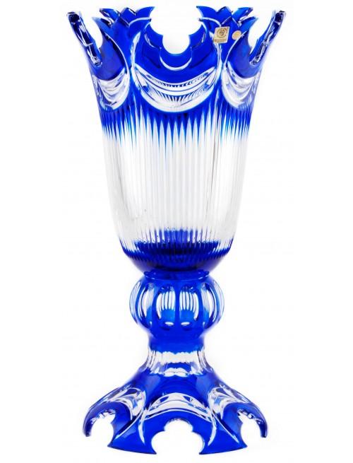 Váza Diadem, barva modrá, výška 430 mm