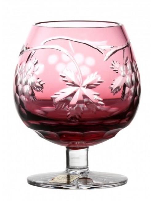 Sklenička Brandy Grapes, barva rubín, objem 230 ml
