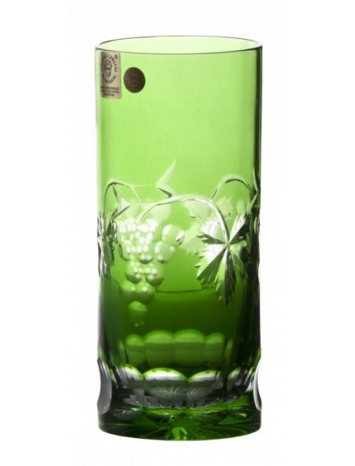 Sklenička Grapes, barva zelená, objem 350 ml