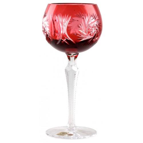 Sklenice na víno Pinwheel, barva rubín, objem 190 ml