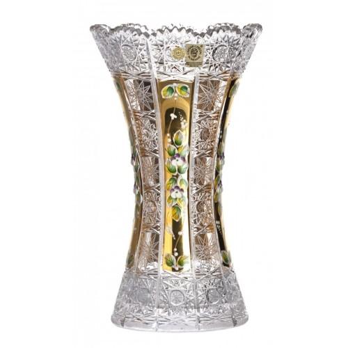 Váza 500K Zlato II, barva čirý křišťál, výška 305 mm