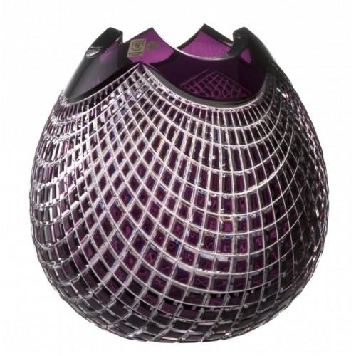 Váza  Quadrus, barva fialová, výška 280 mm
