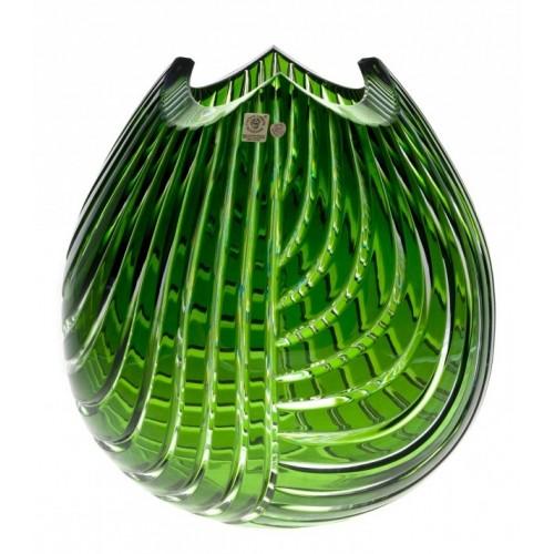 Váza  Linum, barva zelená, výška 280 mm