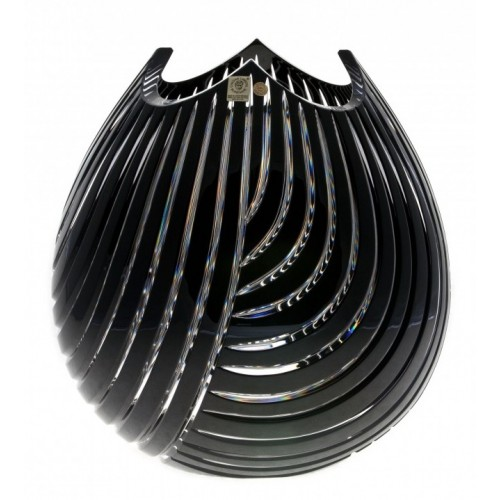 Váza  Linum, barva černá, výška 280 mm