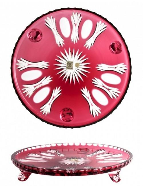 Talíř  Dandelion, barva rubín, průměr 280 mm